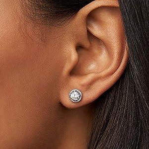 Pandora Orecchini a perno Donna argento – 296272CZ