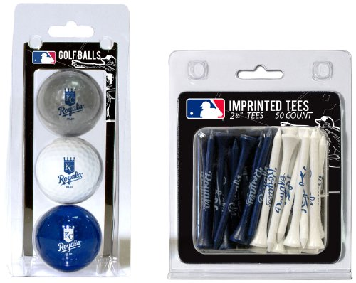 (Team Golf MLB Kansas City Royals Logo Imprinted Golf Balls (3 Count) & 2-3/4