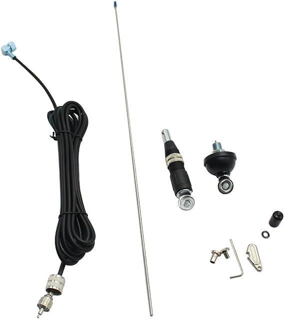 Vectorcom S327n Antennen Set Mobile Antenne Für 10 Meter Band Und Cb Mit 3 M Rg58 Koaxialkabel Mit Pl259 Stecker Geeignet Für Cb Funk Und 10 Meter Band Auto