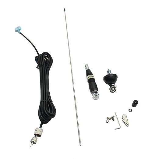 VECTORCOM - Kit de Antena de Montaje móvil de 10 m y CB con Cable coaxial 3M RG58 con Enchufe PL259, Apto para Radio CB y Radio S327N de 10 Metros: ...