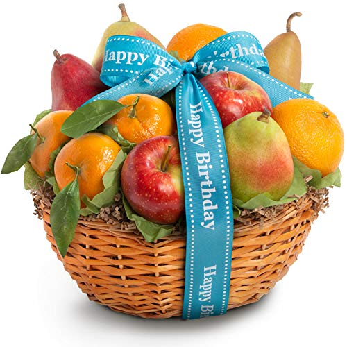 Golden State Fruit Orchard Favorites Gift Basket, Birthday