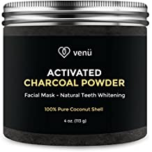 Activated Charcoal Powder - 100% Pure All Natural Coconut Shell - Multipurpose Teeth Whitening and Facial Mask, Cleanser and Exfoliator - 4oz - By Venü