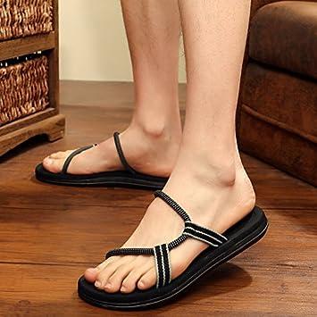fankou Zapatillas Personalizadas de Verano Macho Mens Beach Calzado Antideslizante Exterior Sandalias Cool Arrastre y 39