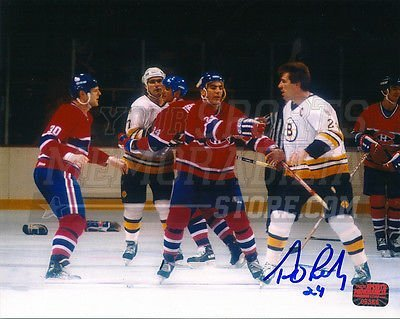 Terry OReilly Boston Bruins Signed Autographed Fight Ready Chris Nilan 8x10