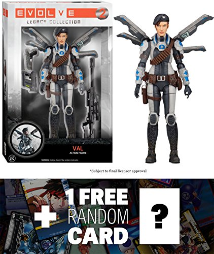 Val: Funko Legacy Collection x Evolve Action Figure + 1 FREE Video Games Themed Trading Card Bundle [52942]