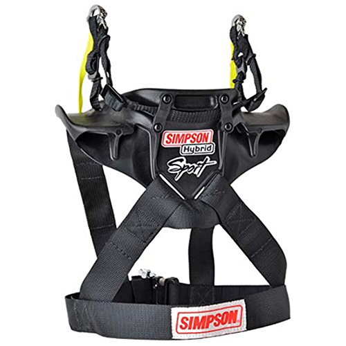 Simpson Hybrid Sport Head Restraint with Quick Release Tethers and D-Ring kit - Medium