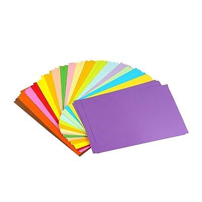 erlliyeu Origami Papel faltpapier doble lado 100 hojas 10 diferentes colores para DIY hecho a mano de papel A4 formato 20*30cm: Oficina y papelería