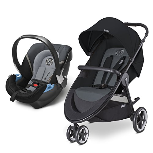 CYBEX Agis M-Air 3/Aton 2/Aton Base 2 Travel System, Moon Dust by Cybex