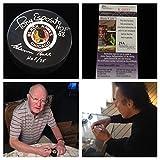 Glenn Hall and Tony Esposito Chicago Blackhawks Signed Autograph Hockey Puck. JSA COA Included