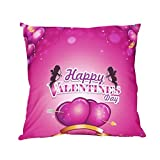 ZLOLIA Valentine's Day Print Pillow Cases Polyester Sofa Car Cushion Cover Home Decor (F)