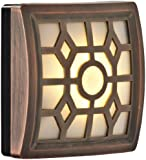 LIGHT IT by Fulcrum 30300-307 4 LED Wireless Soft-Glow Indoor/Outdoor Motion Sensor Light with Filigree Pattern, Bronze