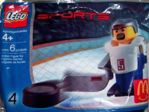 Lego Sports Hockey Player #4 McDonald's Happy Meal Toy
