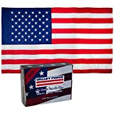 Valley Forge, American Flag, Nylon PERMA-NYL, 100% Made in USA, Heavy-Duty Brass Grommets, Sewn Stripes and Embroidered Stars