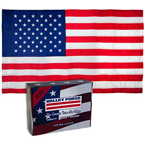 (Valley Forge, American Flag, Nylon, 2.5' x 4', 100% Made in USA, Sleeved Flag, Sewn Stripes and Embroirdered Stars)