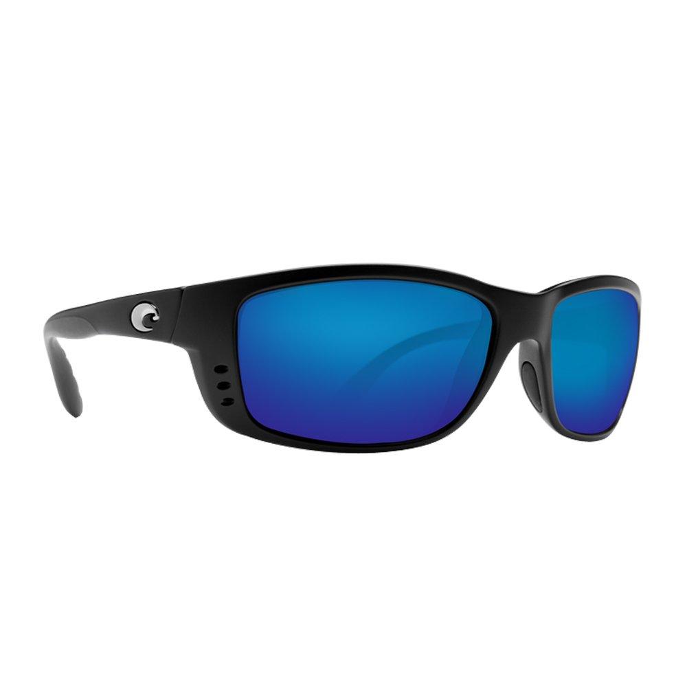 Costa Del Mar Zane Sunglasses, Black, Blue Mirror 580P Lens by Costa Del Mar
