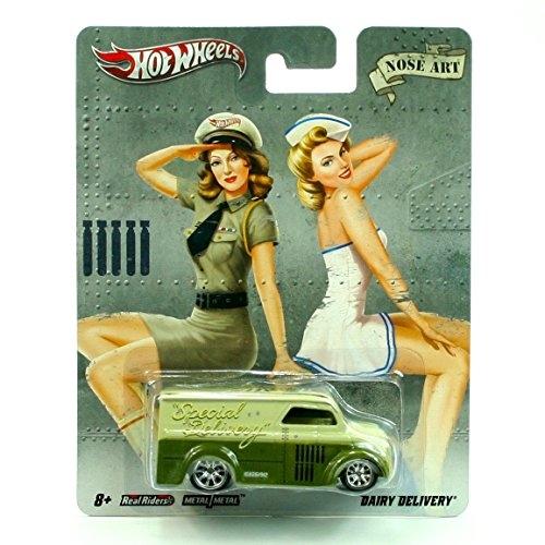 DAIRY DELIVERY * NOSE ART * Hot Wheels 2011 Nostalgia Series 1:64 Scale Die-Cast Vehicle