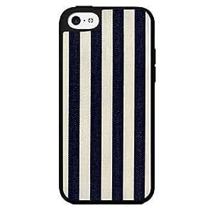 Blue and White Denim Stripes Hard Snap on Phone Case (iPhone 5c)