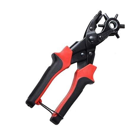 Perforador giratorio de costura Herramienta de perforación de alicates Perforador de orificio redondo para correa de