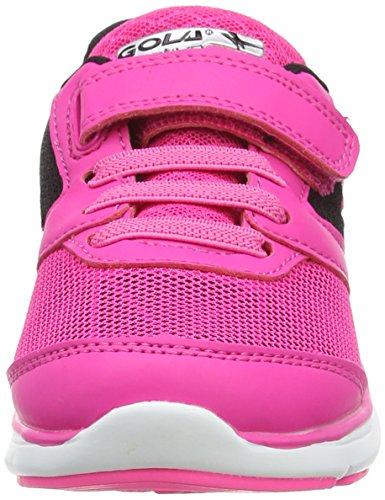 Gola Geno, Zapatillas De Deporte para Exterior para Niñas Rosa (Pink/black/silver)