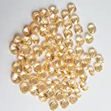 AiFanS 2000Pcs 6.5mm GOLD Acrylic Diamond Gems Crystal Rocks For Table Scatter Or Table Confetti