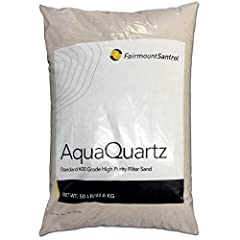 AquaQuartz pool filter sand is the worry-free, hassle-free choice to keep swimming pools clean and crystal clear. The premium pool filter sand does not stain and ensures easy maintenance at a lower cost by filtering out dust, algae, suntan lo...