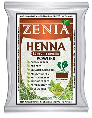 908 grams (2 lbs) Zenia Pure Henna Powder For Hair Dye Hair Color by ZENIA