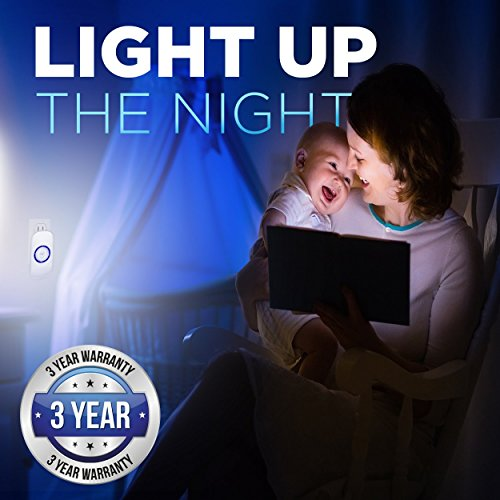 Motion Sensor Night Light, Plug in Motion Detector Led Nightlight Energy Saving Motion Activated Bright Safety Light for Kids and Adults Room, Bedroom, Bathroom, Hallway, Basement and Stairs 4-Pack by GOBULB (Image #3)