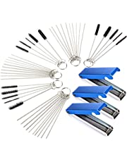 Zeafree 3 Sets Carburetor Carbon Cleaner Wire Torch Tip Cleaner Tool Needles Brushes Cleaning Tool Kit for Motorcycle Moped Carb
