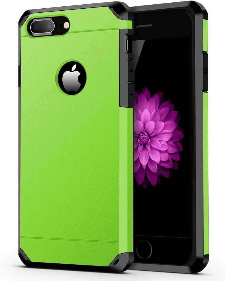 ImpactStrong iPhone 8 Plus Case/iPhone 7 Plus Case Heavy Duty Dual Layer Protection Cover Heavy Duty Case Compatible with iPhone 7 Plus / 8 Plus - Lime Green