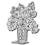 Stampendous Cling Rubber Stamp, Vase Bouquet