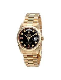 Rolex Oyster Automatic Ladies 18 Carat Yellow Gold President Watch 118238BKDRP