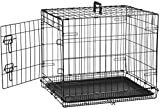 AmazonBasics Single-Door Folding Metal Dog Crate - 24 Inches