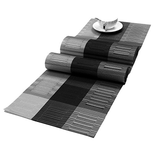 Cloth Table Runner - SHACOS Woven Vinyl Table Runner PVC Table Runner 54