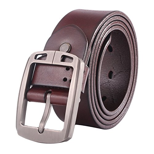 Bridle Jean Belt (Lecxci Men's Real Leather 1 1/2