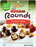 Mrs. May's Dark Chocolate Rounds, Strawberry and Almond, 4 Ounce (Pack of 6)