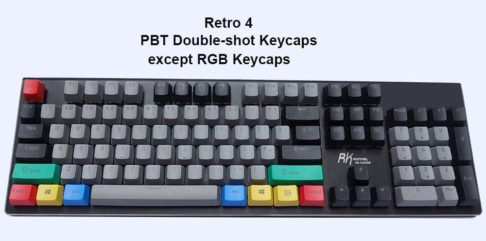 L-SHISM Belle 104-clé Retro Vintage Keycaps Keycaps Dolch RVB Keycaps Double-Shot Top Shine-commutateurs par Clavier mécanique Durable (Color : Retro 3) Retro 4