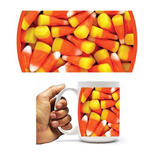 - VictoryStore Ceramic Mugs - Candy Corn, Halloween Coffee Mug, 15oz