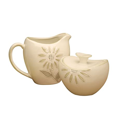 Amazon.com | Cuisinart Sunflower Sugar and Creamer Set: Cream And ...