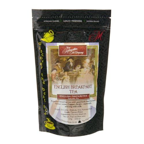 Metropolitan Tea Discovery Loose Tea Pack, English Breakfast English Favorite, 100gm