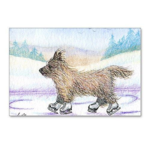 CafePress - Cairn Terrier Ice Skater - Postcards (Package of 8), 6