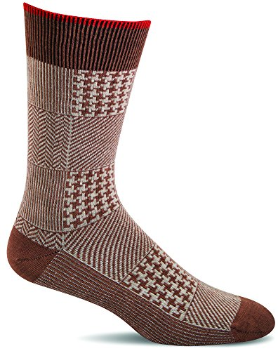 Sockwell Men's Haberdashery Casual Crew Socks (Terracotta, -