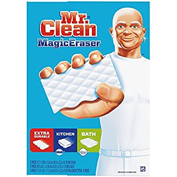 Amazon Com Mr Clean Magic Eraser Bath Cleaning Pads With Durafoam