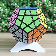 GoodPlay Shengshou Megaminx 3x3 3D Intelligence Smooth Magic Cube Brain Teaser Puzzle Toys, Black +One Cube Tripod