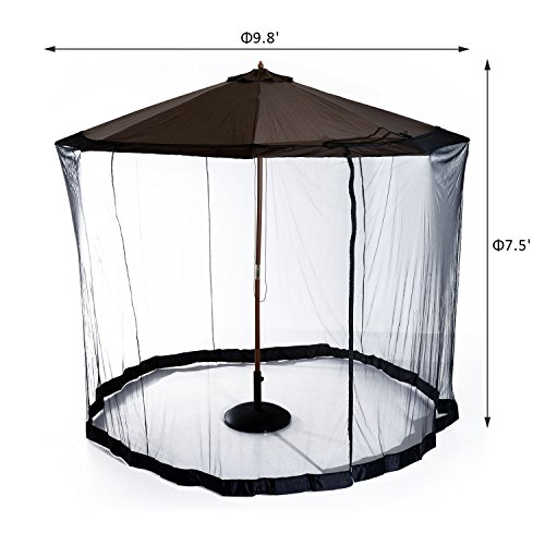 Generic O-8-O-4269-O Zipped with Mosquito quito N Patio Cover er with 10FT Outdoor Umbrella en Pati Net Zipped Door lla Tab Table Screen NV_1008004269-TYQFUS32 by Generic