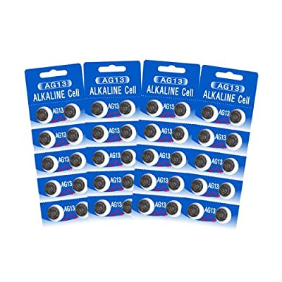 40 HEXBUG-Compatible Batteries - Alkaline Cell - LR44 - AG13