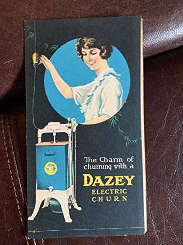 1920's DAZEY ELECTRIC CHURN 4 Page BROCHURE BOOKLET Rare