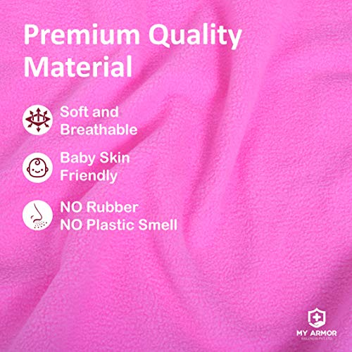 MY ARMOR Baby Dry Sheet/Mattress Protector (Waterproof/Quick Drying/Extra Absorbent/Reusable) – Pack of 2 (Small (50cm x 70cm), Pink & Sky Blue)
