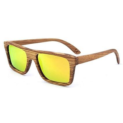 Aihifly Gafas de Sol polarizadas Gafas de Sol de Madera Hechas a Mano de la Cebra