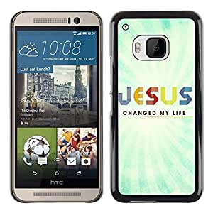 Be Good Phone Accessory // Dura Cáscara cubierta Protectora Caso Carcasa Funda de Protección para HTC One M9 // BIBLE Jesus Saved My Life