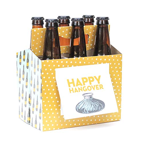 Happy Hangover! Best 21st Birthday Gifts for Her or Him - Six Pack Greeting Card Box (Set of 4) - Craft Beer Gifts for Men, Beer Gift Basket, Beer Lovers Gifts, Funny Beer Gifts for Beer Drinkers